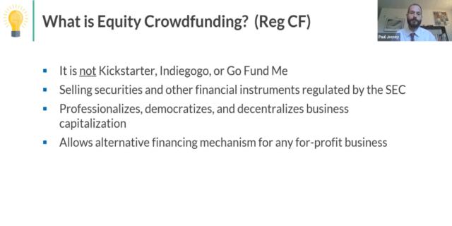 Equity Crowdfunding Webinar